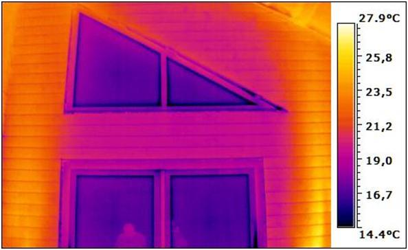 Просмотр щелей через тепловизор