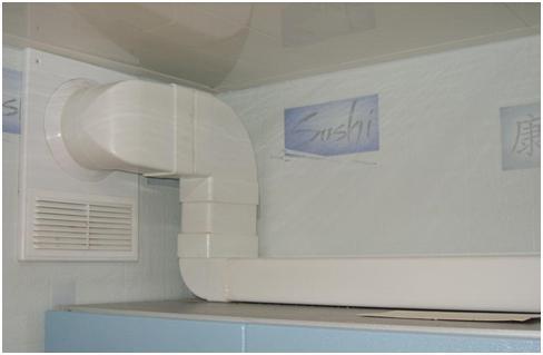 Установка вентиляции на кухне