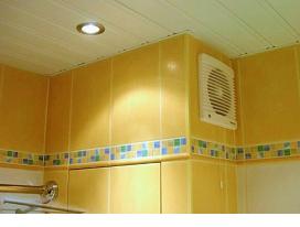Вентиляционный вентилятор в ванной комнате