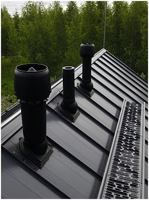 Воздуховод на крыше