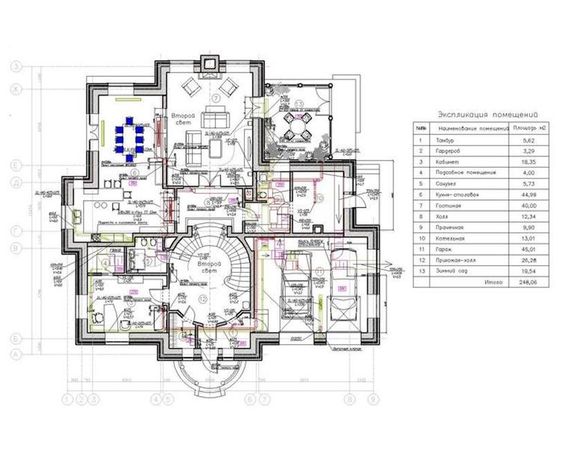 План одного этажа дома