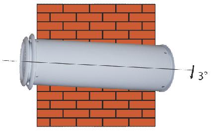 Вентиляционная труба в стене