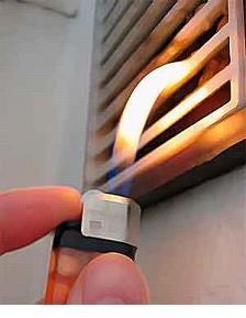 Проверка вытяжки огнем