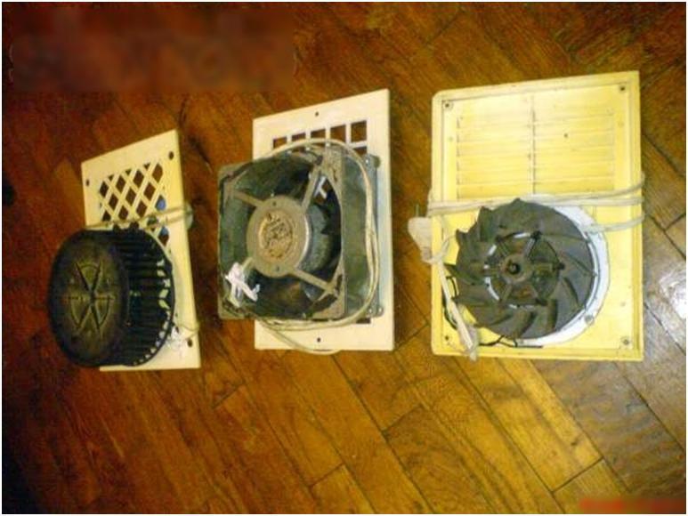 Загрязненные вентиляторы