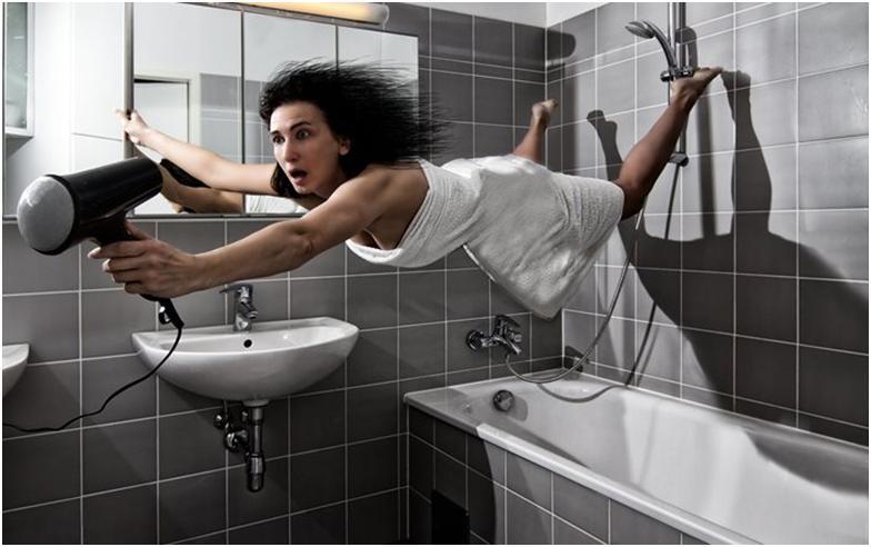 Наглядный пример мощной вытяжки в ванной