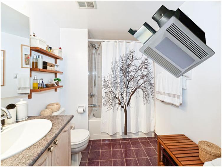 Использование потолочного вентилятора в ванной