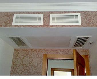 Фото помещения с канальной вентиляцией