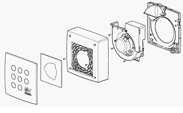 Схема установки центробежного вентилятора
