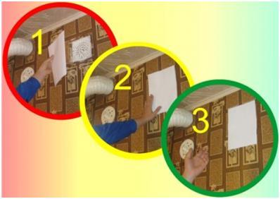 Проверка тяги с помощью бумаги