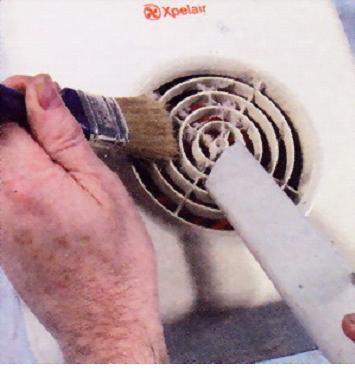 Чистка вентиляционной решетки