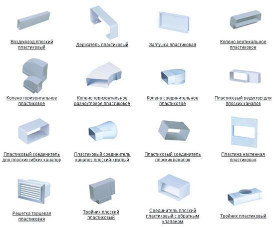 Элементы для монтажа воздуховода