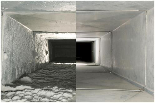 Воздуховод - вид изнутри