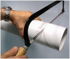 Подготовка пластиковой трубы