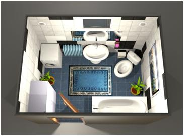 Ванная комната - вид сверху