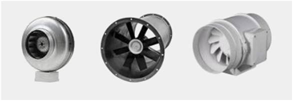 Типы канальных вентиляторов