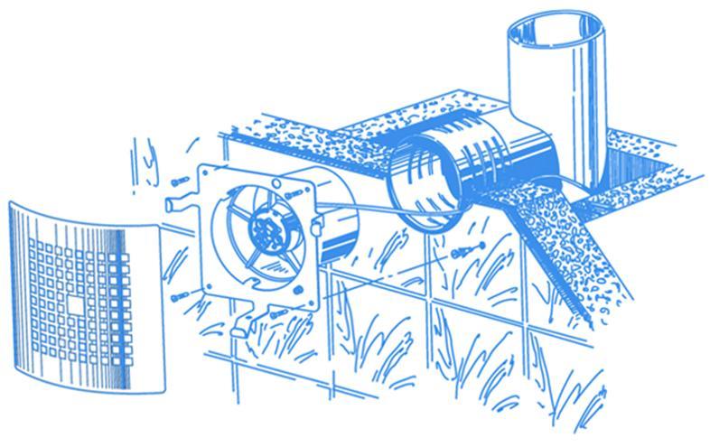 Чертеж установки вентилятора