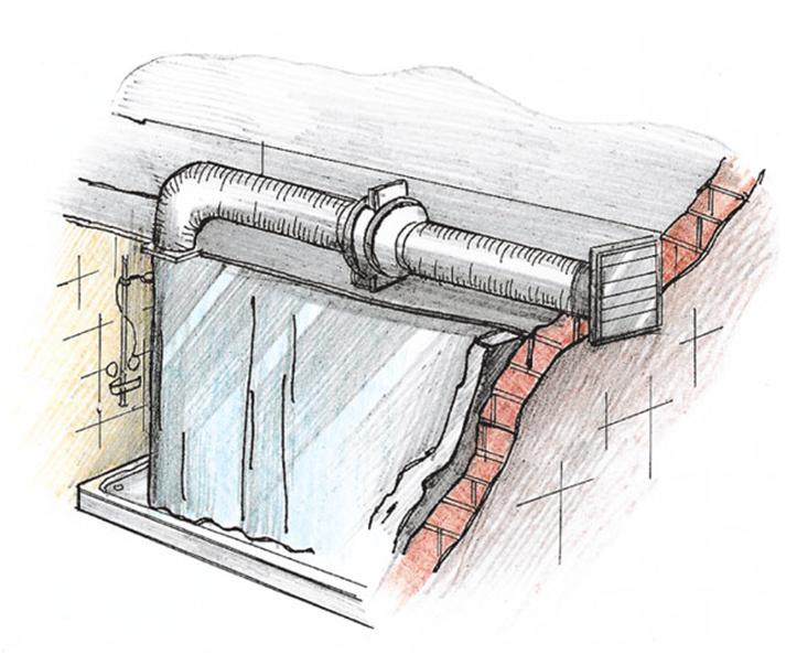Рисунок вентиляционного канала
