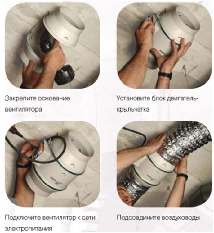 Установка прибора вентиляции