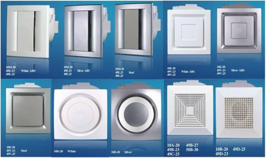 Разновидности вентиляторов для потолка