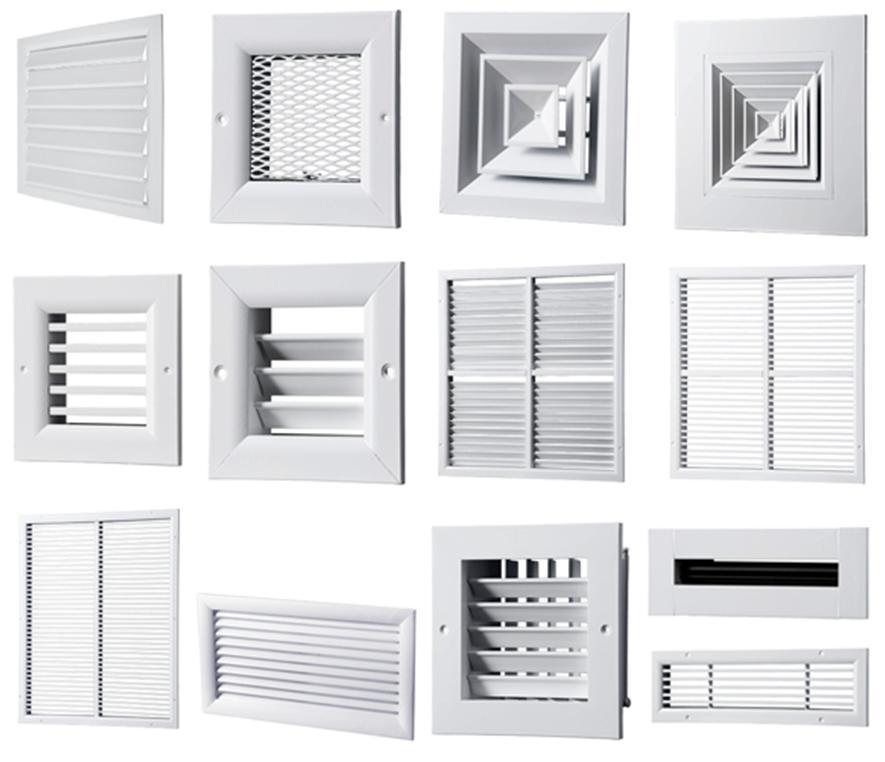Широкий выбор вентиляционных решеток