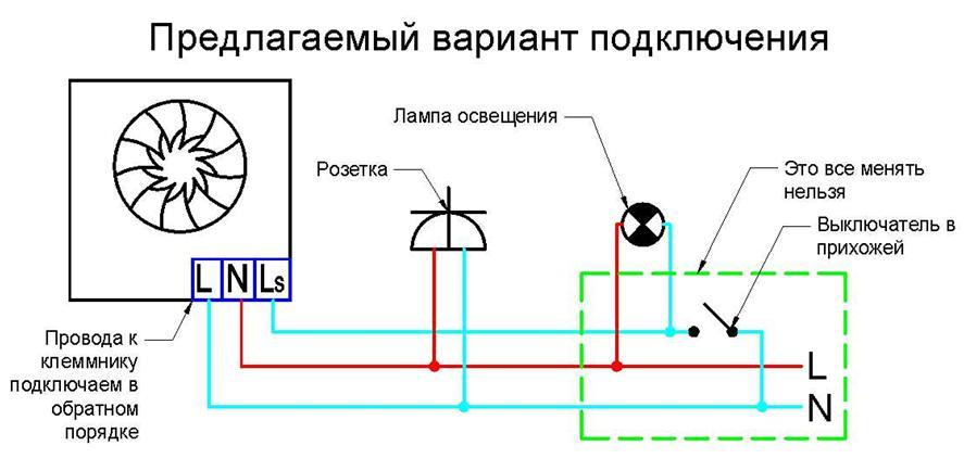 Электрическая схема подсоединения