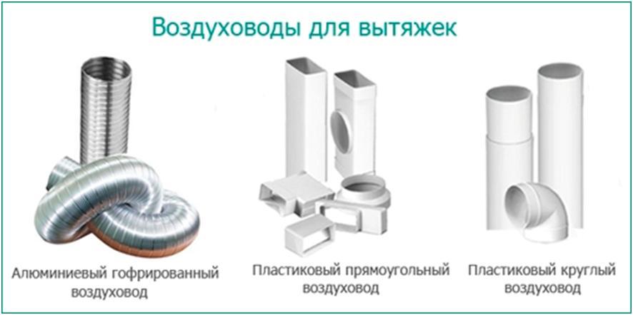 Вентиляционные трубы разных модификаций