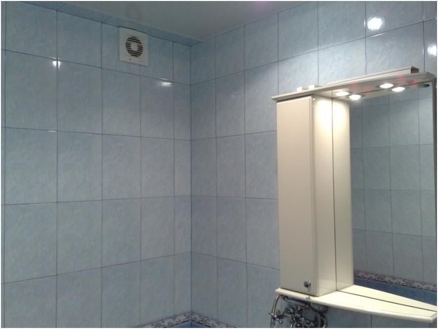 Ванная комната с устройством вентиляции