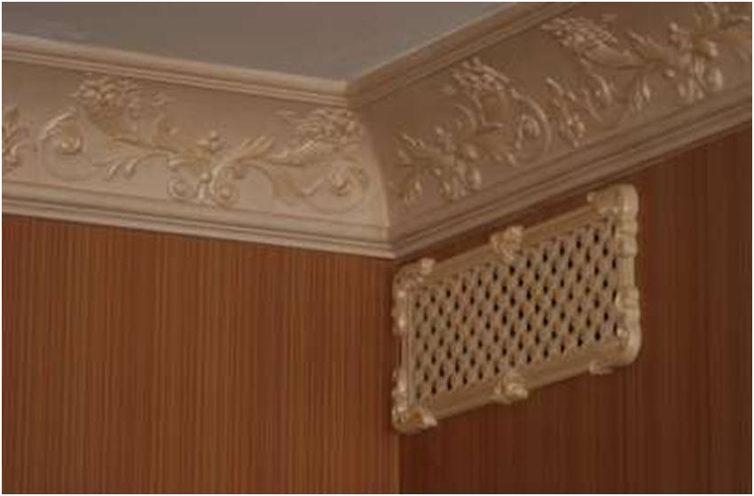 Решетка с орнаментом под потолком