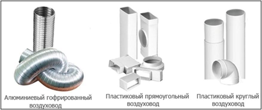 Примеры вентиляционных труб