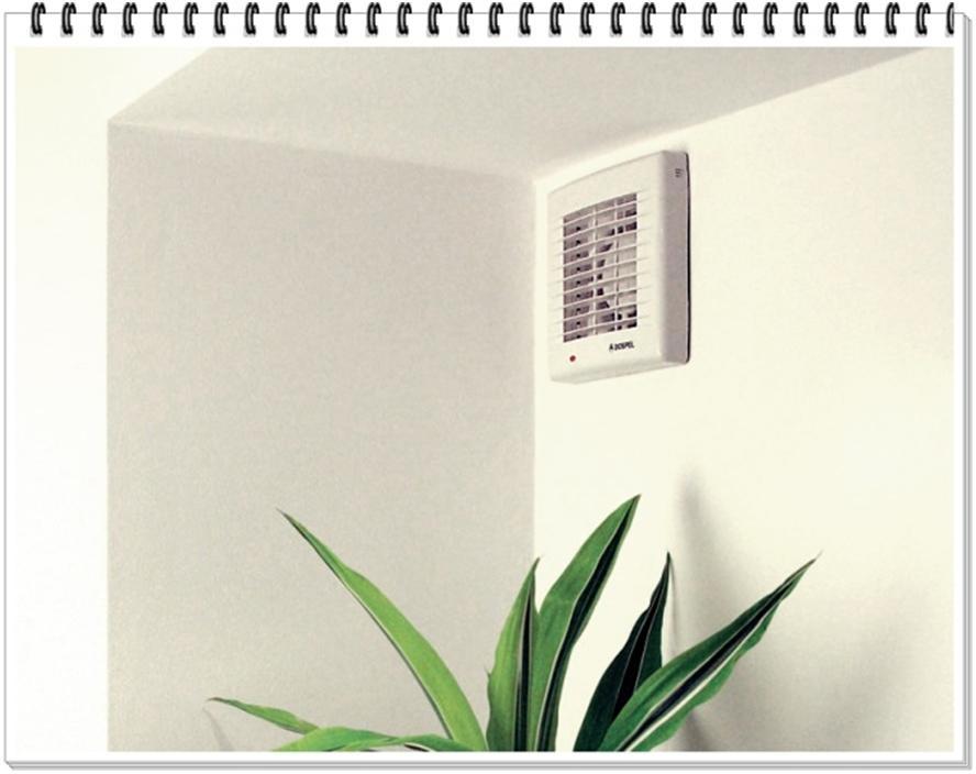 Вентилятор установлен на стене