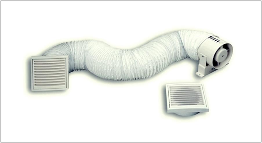 Воздуховод с канальным нагнетателем