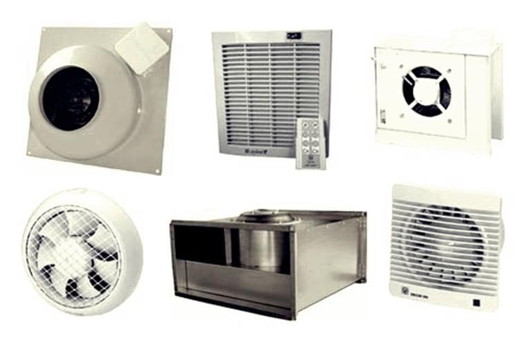 Различные типы вентиляционных устройств