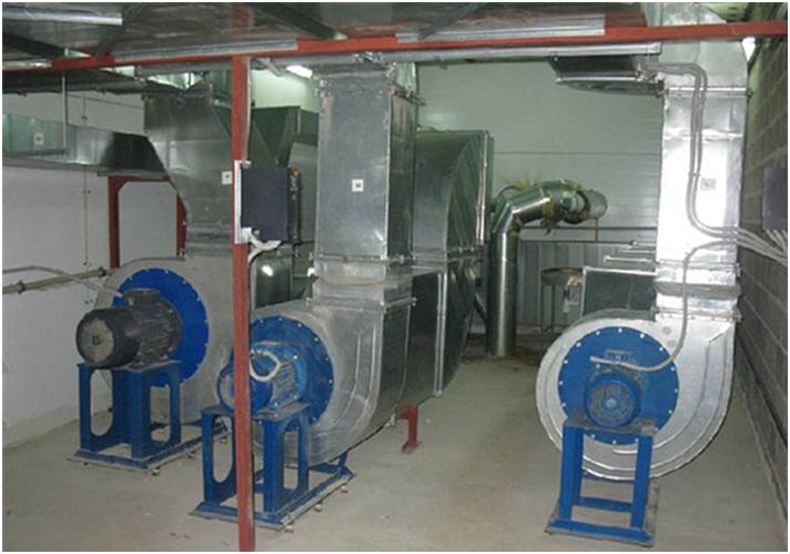 Производственное оборудование вентиляции объекта