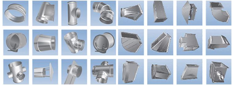 Примеры воздуховодов различной конструкции