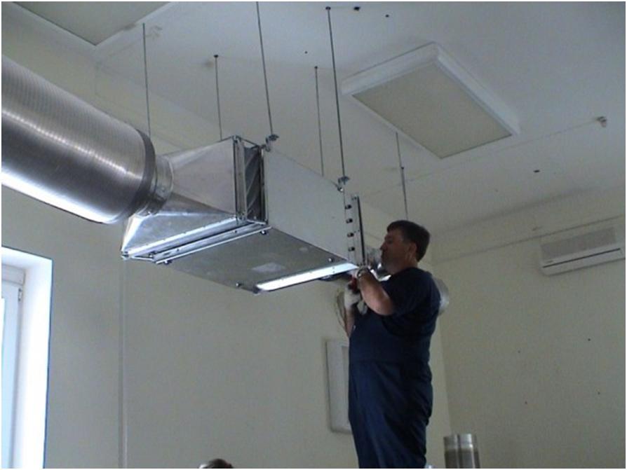 Установка вентиляционного оборудования