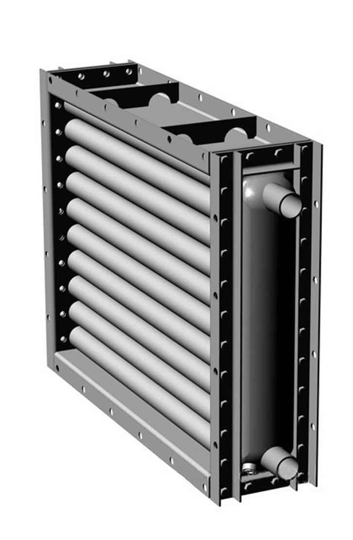 Водяной нагреватель для промышленной вентиляции