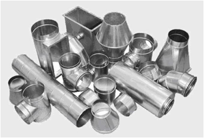 Образцы трубопроводов для вентиляционной системы
