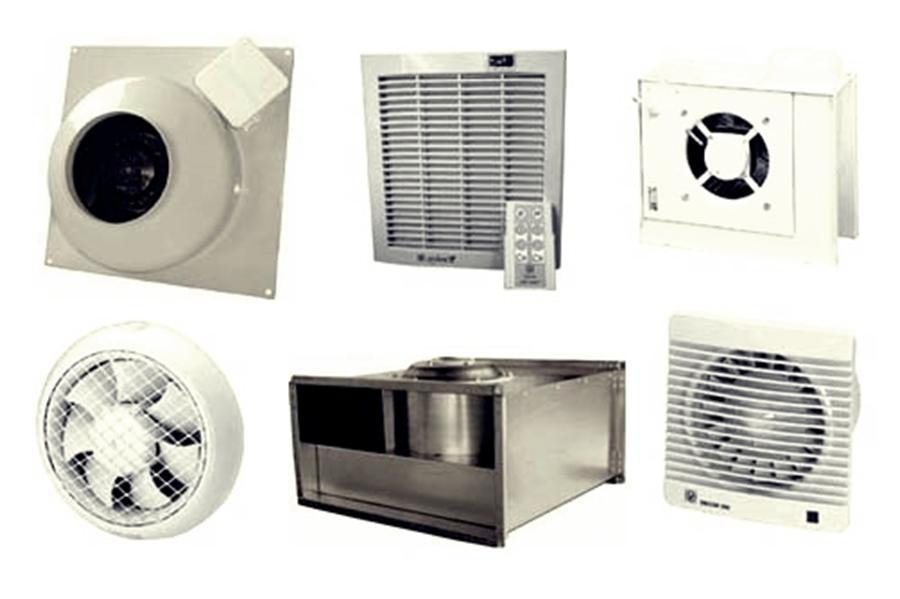 Типичные вентиляционные устройства