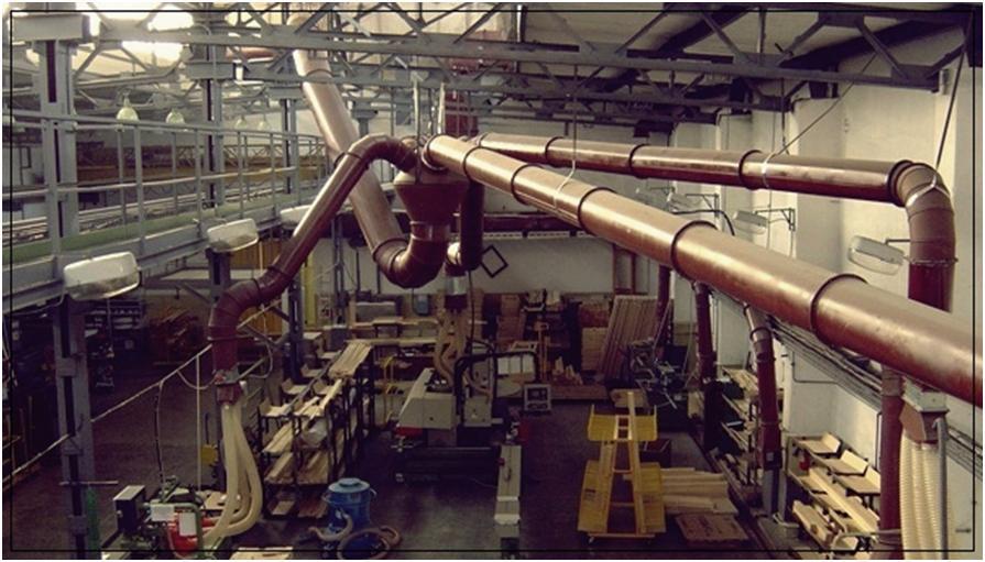Система вентиляции на производственном объекте