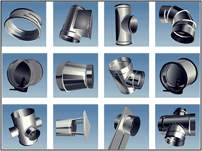 Образцы сегментов вентиляционных каналов
