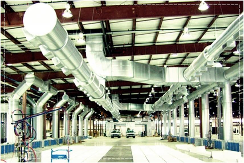 Готовая система промышленного вентилирования