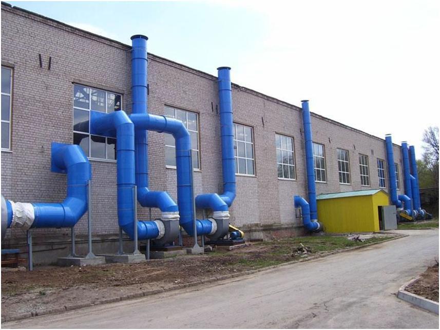 Организация воздухообмена в промышленности