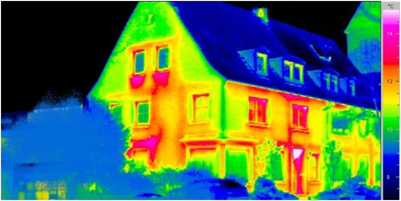 Определение зон потери тепла