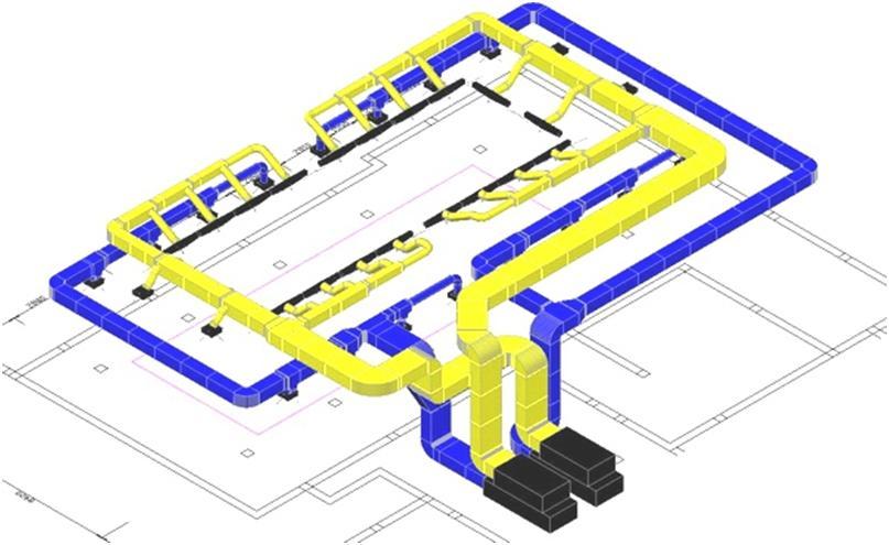 Объемная модель вентиляционного комплекса
