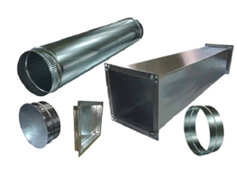 Типичные промышленные воздуховоды