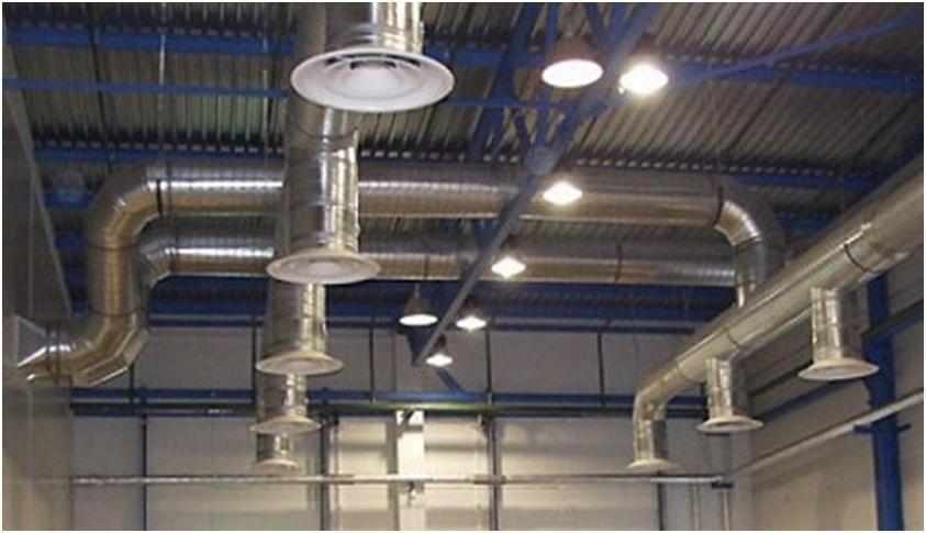 Пример организации производственной вентиляции
