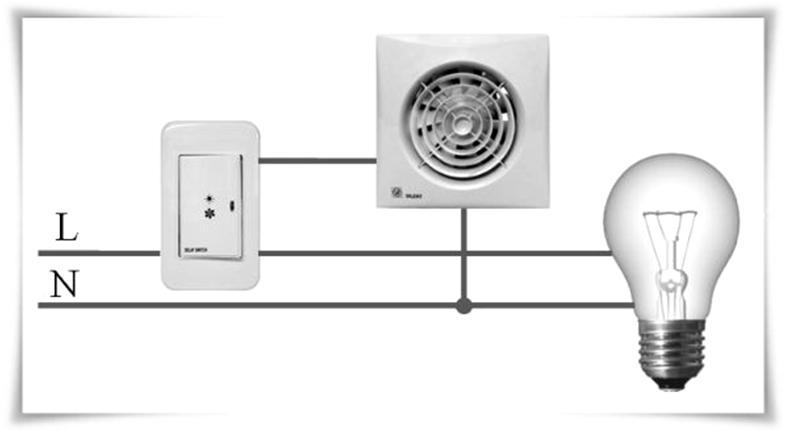 Подключение вентилятора к выключателю