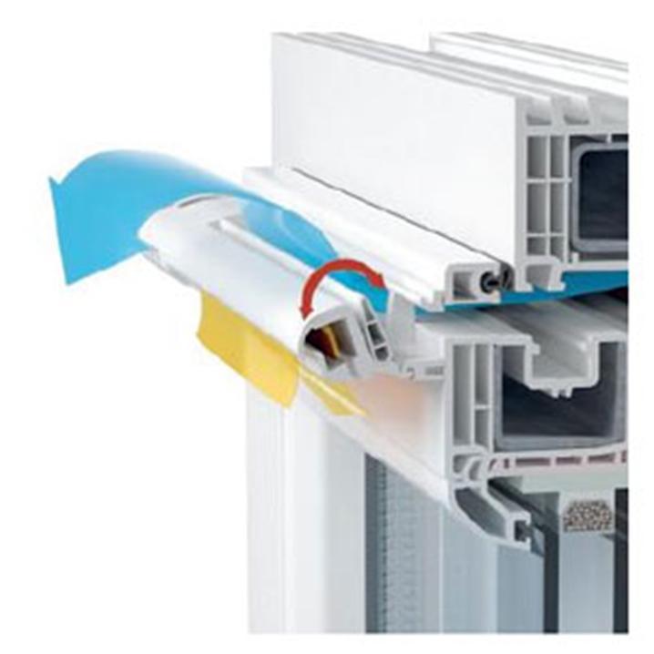 Поступление воздуха в квартиру через оконный клапан