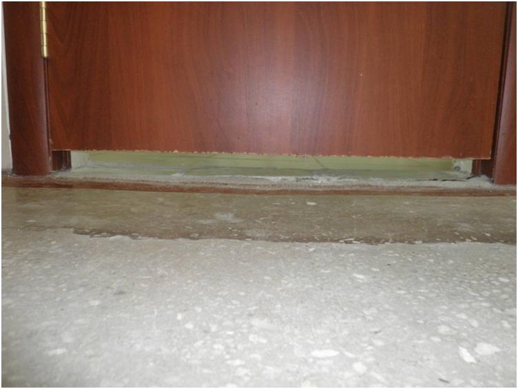 Щель для циркуляции воздуха между комнатами