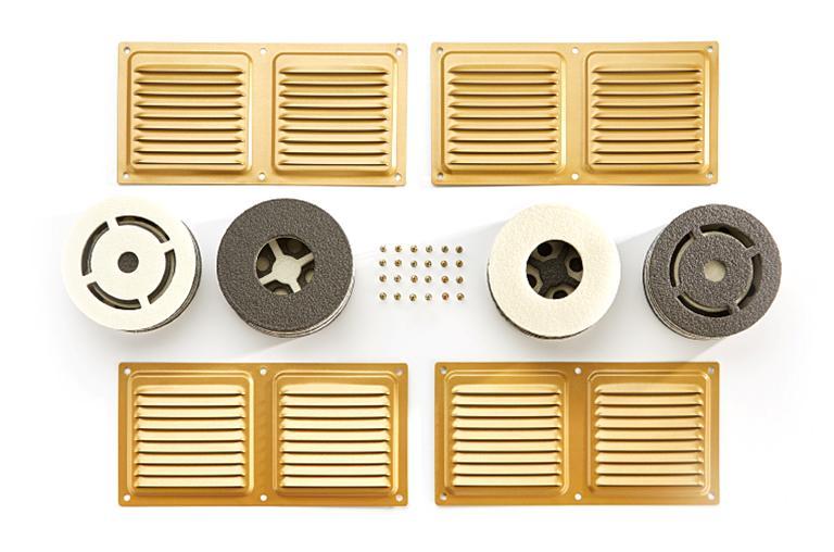 Образцы вентиляционных клапанов для дверей